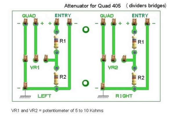 attenuator schematic for Quad 405
