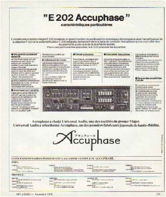 the high fidelity of 70 years,the brand,Accuphase