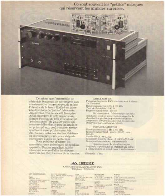 Advertisements from the hifi,AEM