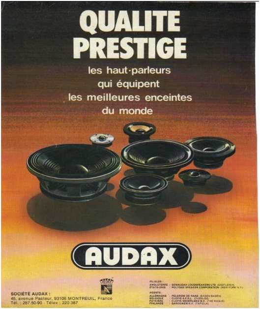 Advertisements from the hifi,Audax