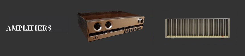 A selection of vintage amplifier very representative of a beautiful era for high fidelity and music,