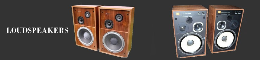 A selection of vintage loudspekers: JBL, KEF, Bose, BW, SCOTT, ADVENT, JENSEN, KLH, ELIPSON, CELESTION, INFINITY,