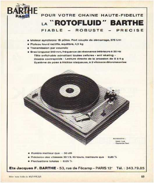Pages advertising market of the 70 stereo,Barthes