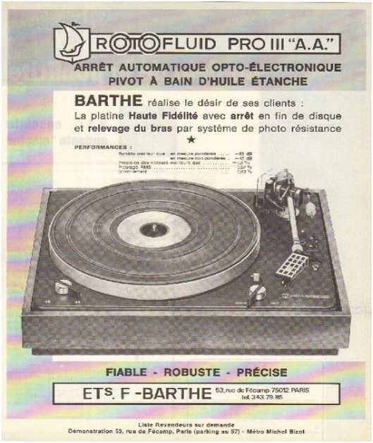 the high fidelity of 70 years, the brand,Barthe