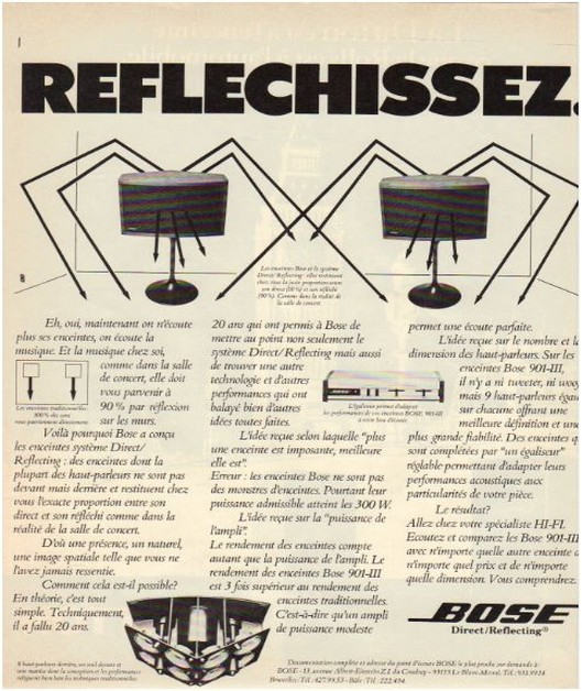 Advertisements from the hifi,Bose