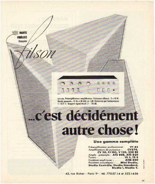 Pages advertising market of the 70 stereo,Filson