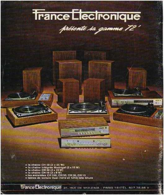 Pages advertising market of the 70 stereo,France Electronique