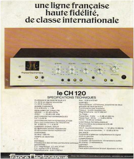 Advertisements from the hifi,France Electronique