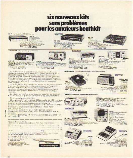 Pages advertising market of the 70 stereo,heathkit