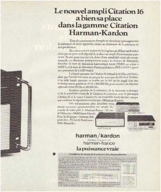 the high fidelity of 70 years, the brand Harman Kardon