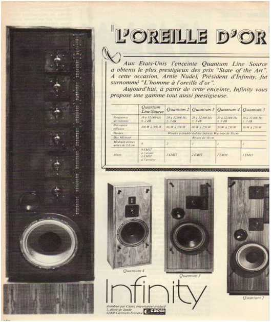 Advertisements from the hifi,Infinity