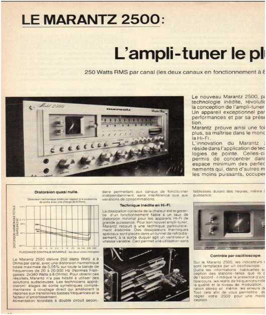 Advertisements from the hifi Marantz