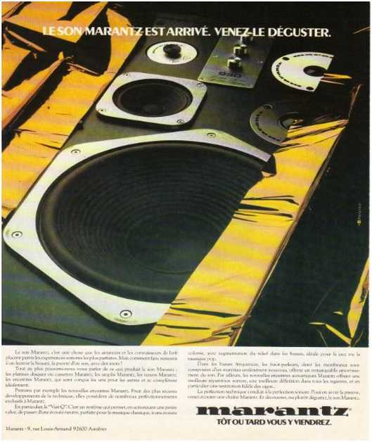 The ads of 1979, Marantz