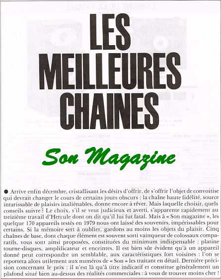 meilleurs chaines 1979