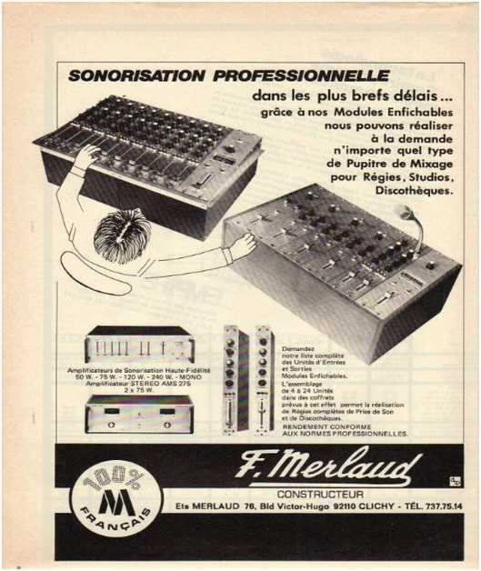 Advertisements from the hifi,Merlaud