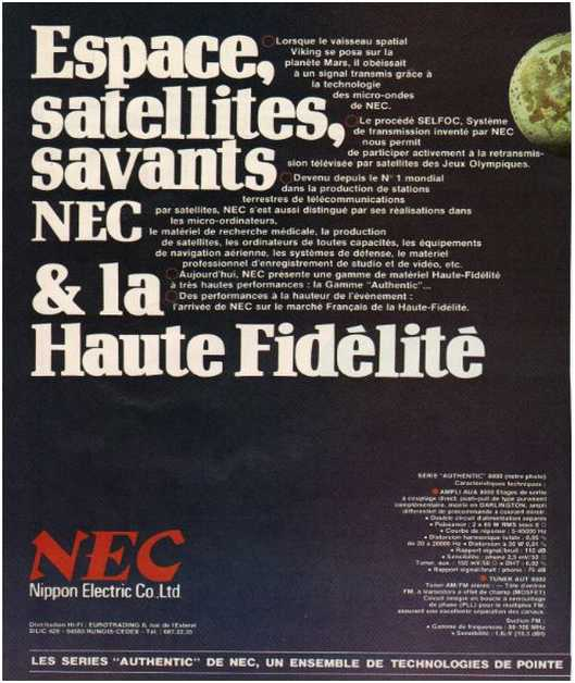The ads of 1979,Nec