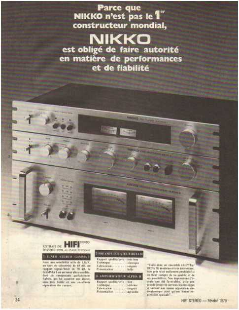 The ads of 1979,Nikko