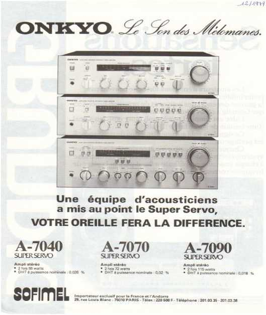 The ads of 1979,Onkyo