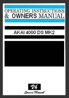 OWNERS MANUAL AKAI 4000 DS MK 2