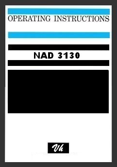 OWNERS MANUAL OF NAD 3130