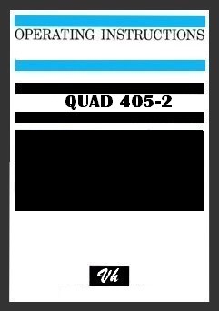 OWNERS MANUAL OF QUAD 405-2