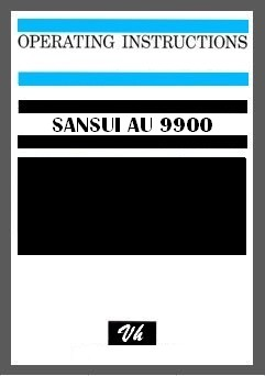 OWNERS MANUAL OF SANSUI AU 9900