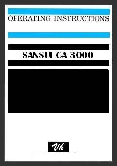 OWNERS MANUAL OF SANSUI CA-3000