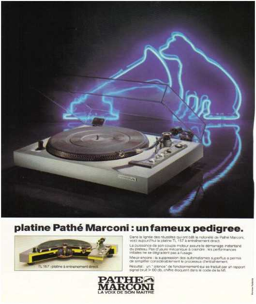 Advertisements from the hifi,Path� Marconi