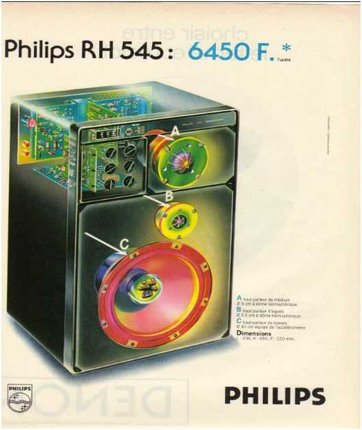 Advertisements from the hifi,Philips