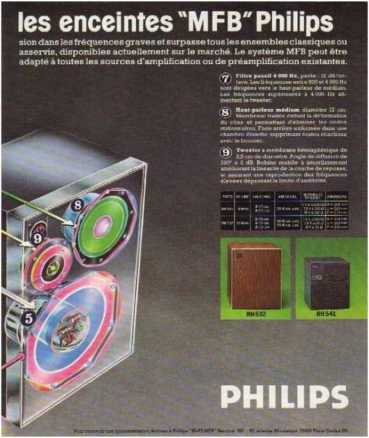 the high fidelity of 70 years, the brand Philips