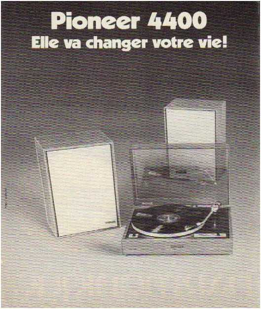 Pages advertising market of the 70 stereo,Pioneer