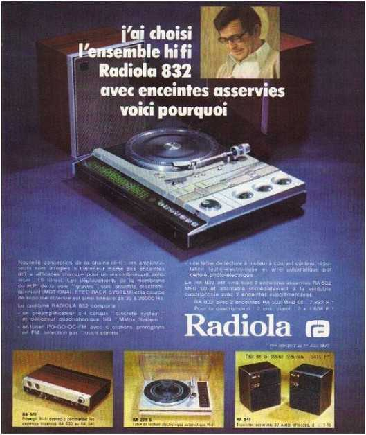 the high fidelity of 70 years, the brand Radiola