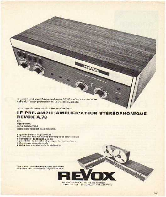 Pages advertising market of the 70 stereo,Revox