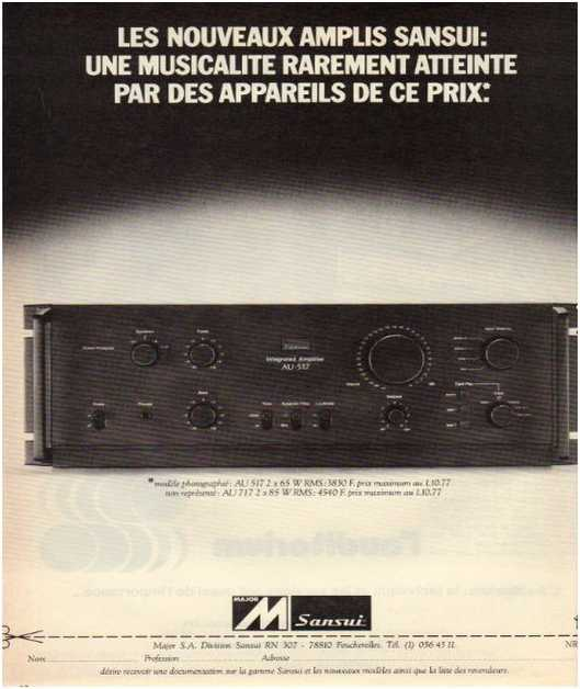 Advertisements from the hifi,Sansui