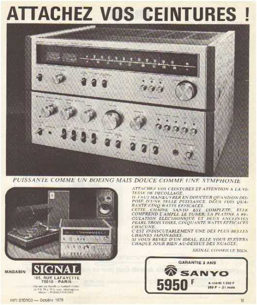 the golden age of high fidelity,Sanyo