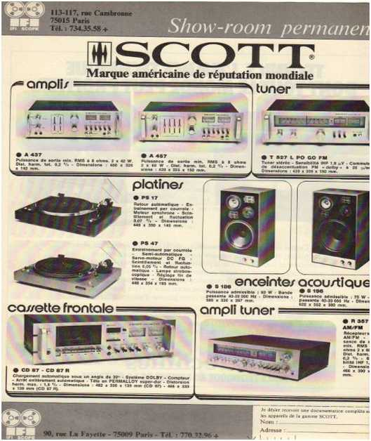 Advertisements from the hifi,Scott