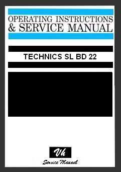 SERVICE MANUAL TECHNICS SL BD 22
