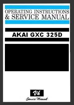 OWNERS MANUAL AKAI GXC 325D