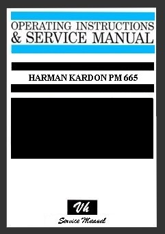 MANUAL DE SERVICIO HARMAN KARDON PM 665