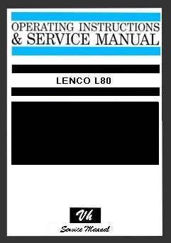 SERVICE MANUAL LENCO L80