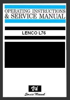 SERVICE MANUAL LENCO L76