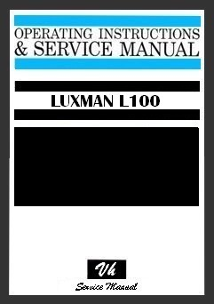 SERVICE MANUAL OF LUXMAN L100
