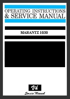 SERVICE MANUAL MARANTZ 1030