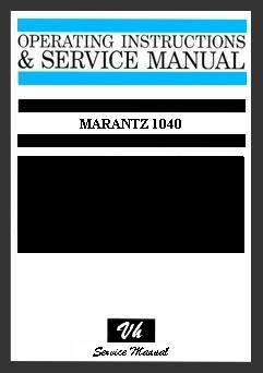 MANUAL DE SERVICIO MARANTZ 1040