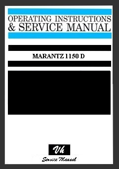 SERVICE MANUAL MARANTZ 1150 D