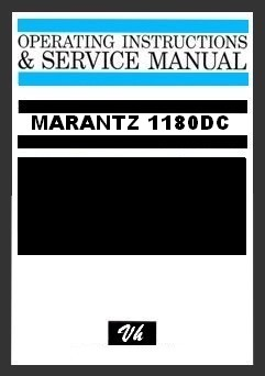 SERVICE MANUAL OF MARANTZ 1180DC