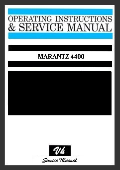 SERVICE MANUAL DU MARANTZ 4400