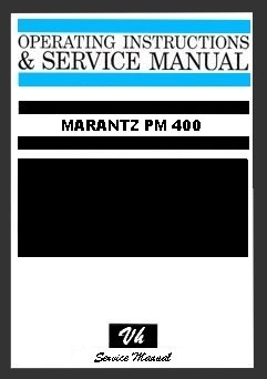 MANUAL DE SERVICIO DE MARANTZ PM 400