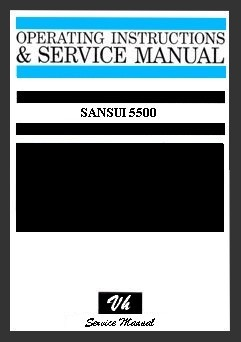 SERVICE MANUAL OF SANSUI 5500