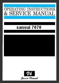 SERVICE MANUAL OF SANSUI 7070